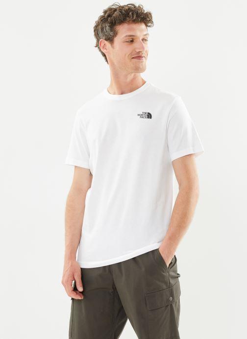 Vêtements The North Face M S/S REDBOX TEE Blanc vue détail/paire