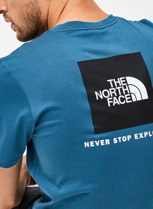 Vêtements The North Face M S/S REDBOX TEE Bleu vue face