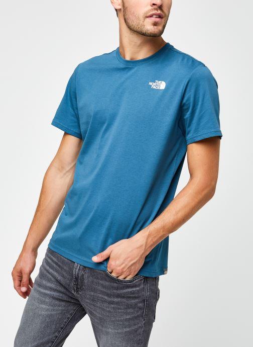 Vêtements The North Face M S/S REDBOX TEE Bleu vue droite