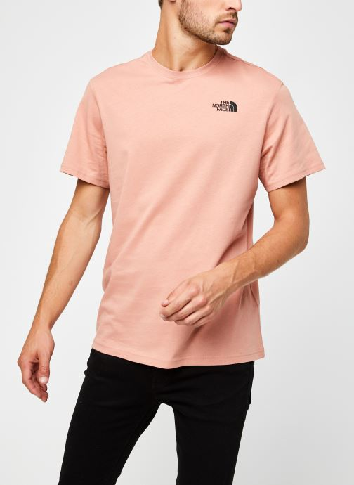 Vêtements The North Face M S/S REDBOX TEE Rose vue droite