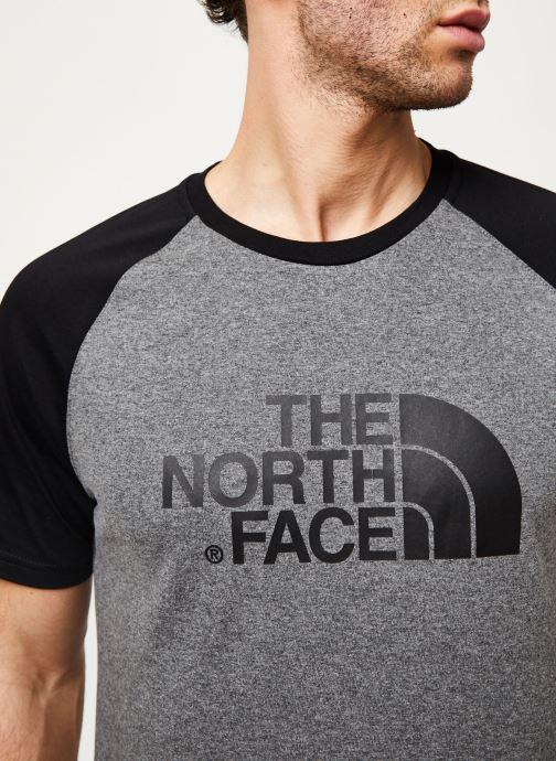Kleding The North Face M S/S RAGLAN EASY TEE Grijs voorkant