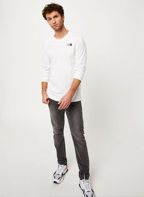 The North Face T-shirt - M L/S EASY TEE (Blanc) - Vêtements (412241)