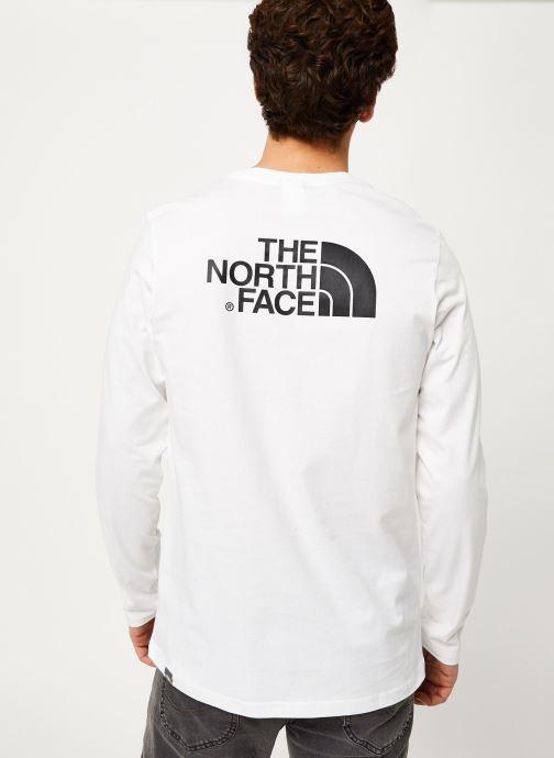 Vêtements The North Face M L/S EASY TEE Blanc vue face