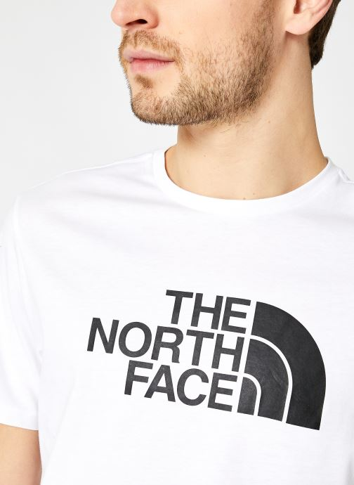 Vêtements The North Face M S/S EASY TEE Blanc vue face