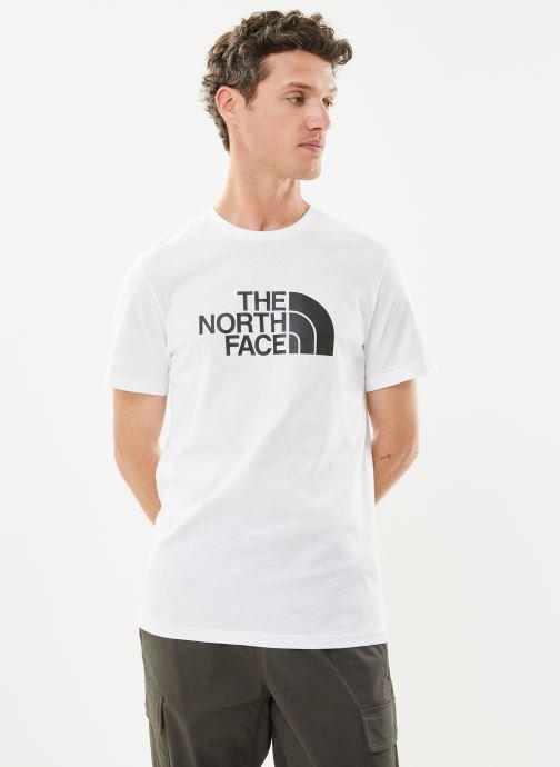 Vêtements The North Face M S/S EASY TEE Blanc vue détail/paire