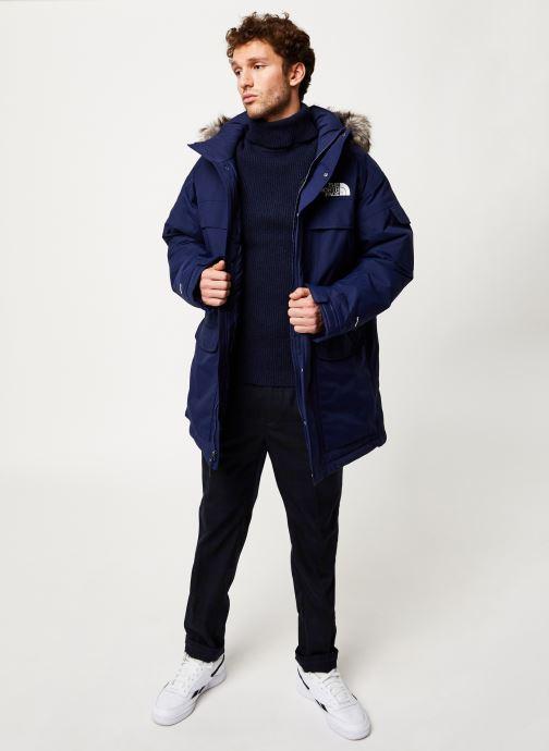 Vêtements The North Face M MC MURDO Bleu vue bas / vue portée sac