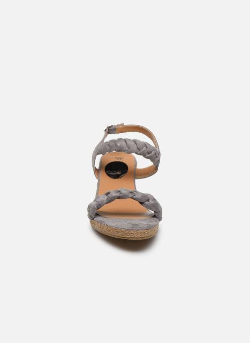 Espadrilles I Love Shoes FIZZY Size + Gris vue portées chaussures