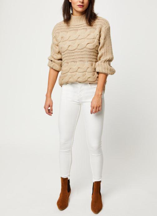 Pieces Pull - Harper Ls Knit (Beige) - Vêtements (412270)