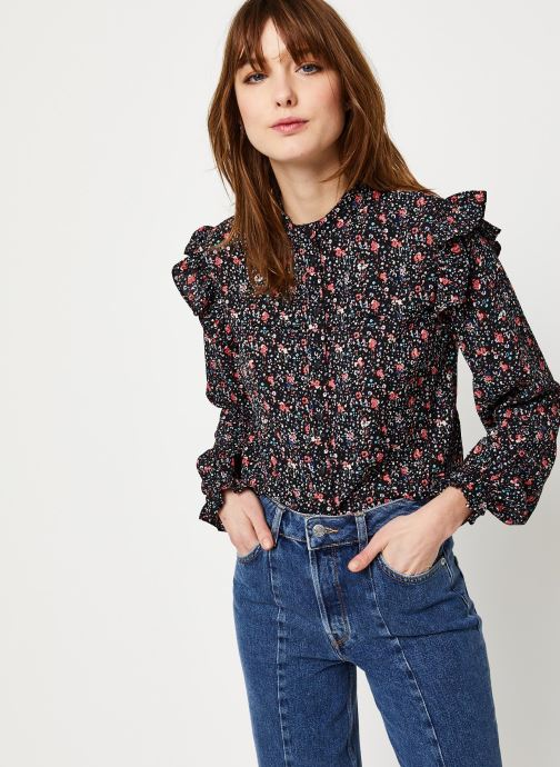 Vêtements Pieces Heilin Ls Top D2D Noir vue détail/paire