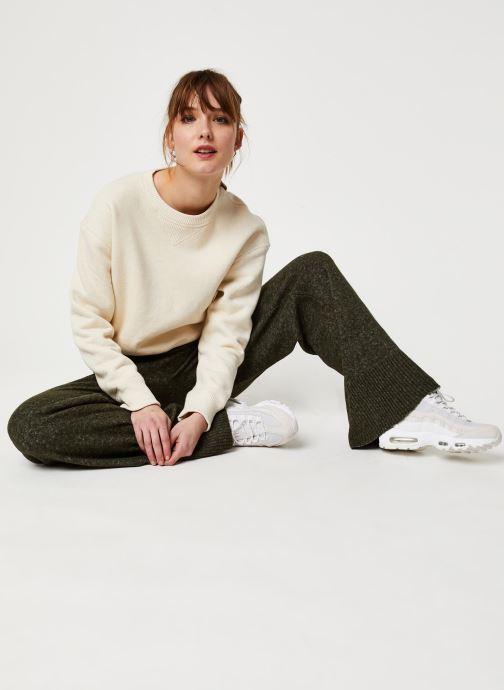 Vêtements Pieces Honey Wide Knit Pants Vert vue bas / vue portée sac
