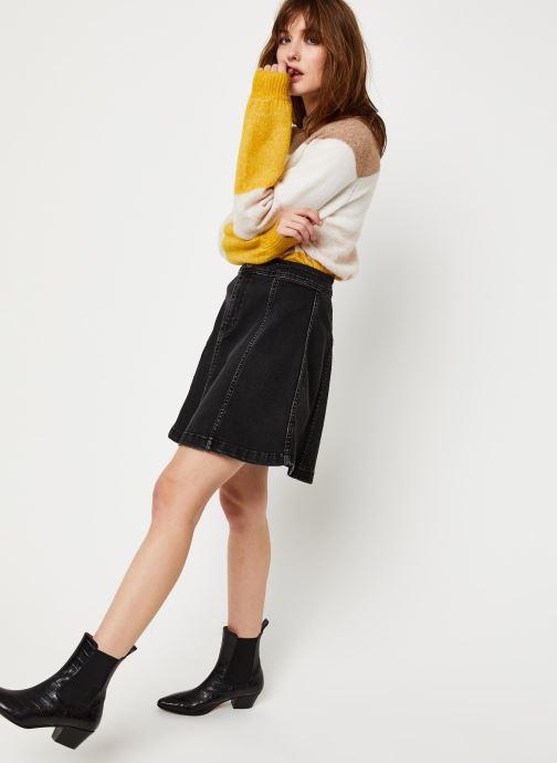 Vêtements Pieces Iris Hw Skater Skirt Bl627-Vi Noir vue bas / vue portée sac
