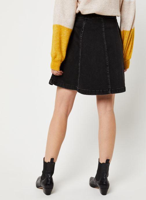 Vêtements Pieces Iris Hw Skater Skirt Bl627-Vi Noir vue portées chaussures