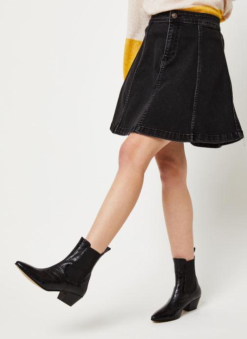Vêtements Pieces Iris Hw Skater Skirt Bl627-Vi Noir vue détail/paire