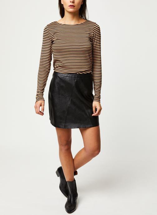 Vêtements Pieces Jabba Hw Skirt Noir vue bas / vue portée sac