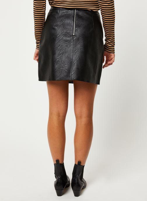 Vêtements Pieces Jabba Hw Skirt Noir vue portées chaussures