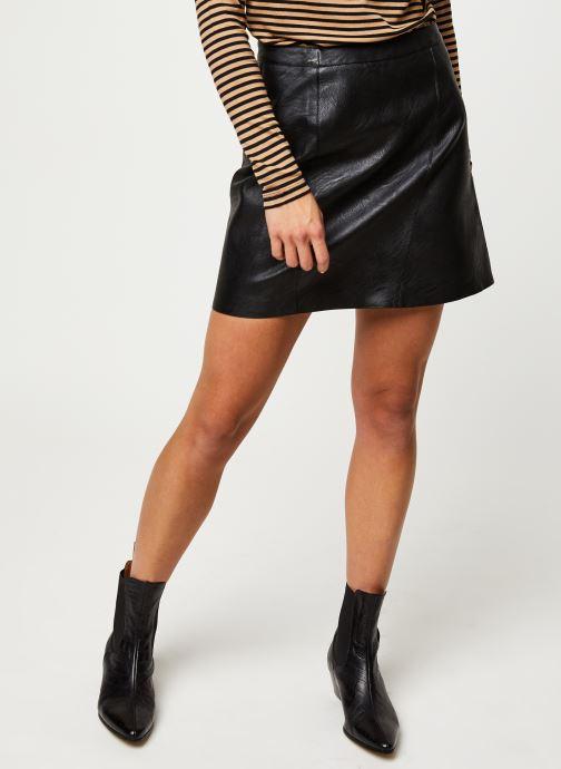 Vêtements Pieces Jabba Hw Skirt Noir vue détail/paire