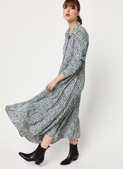 Vêtements Pieces Mikko Ls Midi Dress D2D Bleu vue bas / vue portée sac