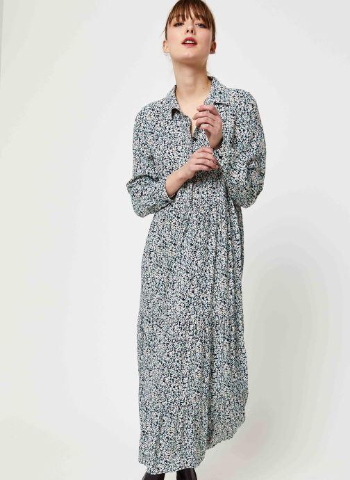 Vêtements Pieces Mikko Ls Midi Dress D2D Bleu vue détail/paire
