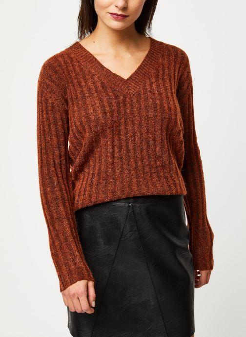 New Sanni Ls Wool V-Neck Knit