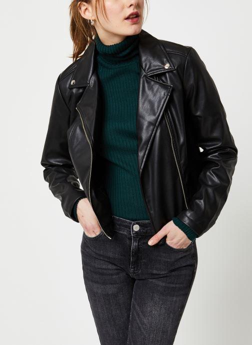 Vêtements Pieces Rione Biker Zip Jacket Kac Noir vue détail/paire
