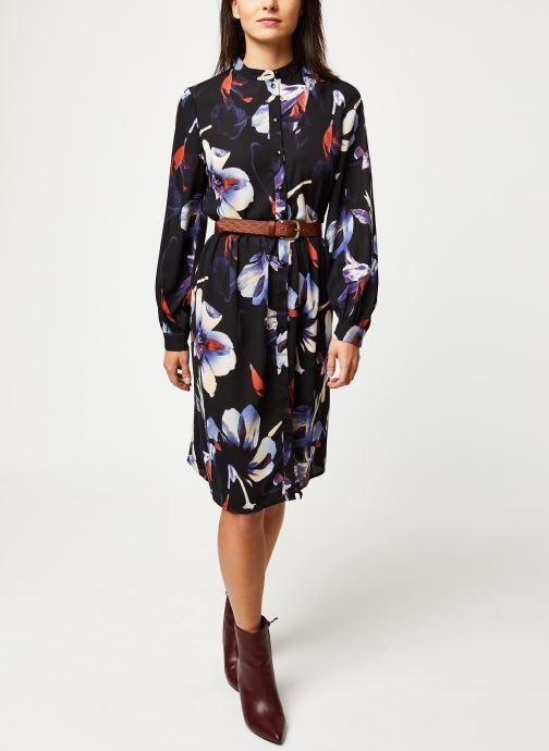 Vêtements Pieces Sanni Ls Shirt Dress D2D Noir vue bas / vue portée sac