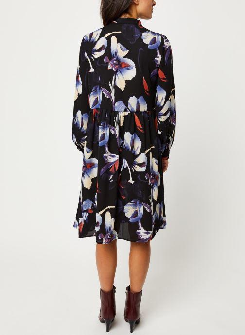 Vêtements Pieces Sanni Ls Shirt Dress D2D Noir vue portées chaussures
