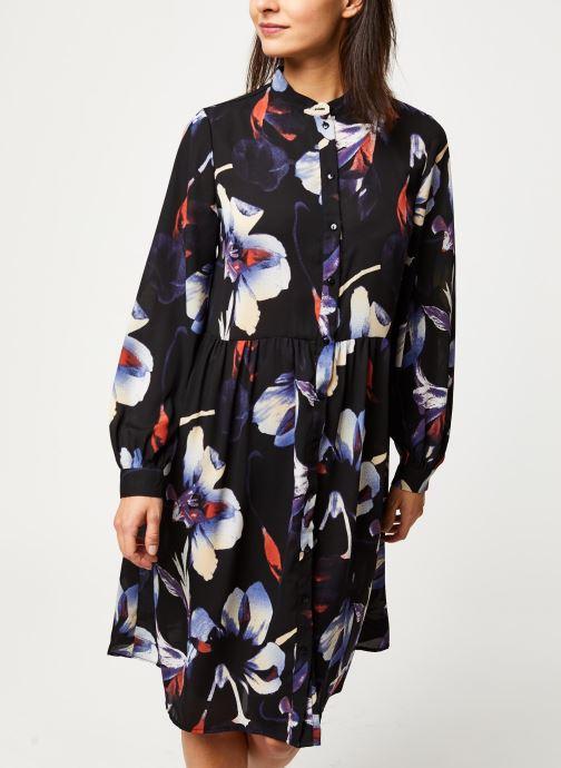 Vêtements Pieces Sanni Ls Shirt Dress D2D Noir vue droite