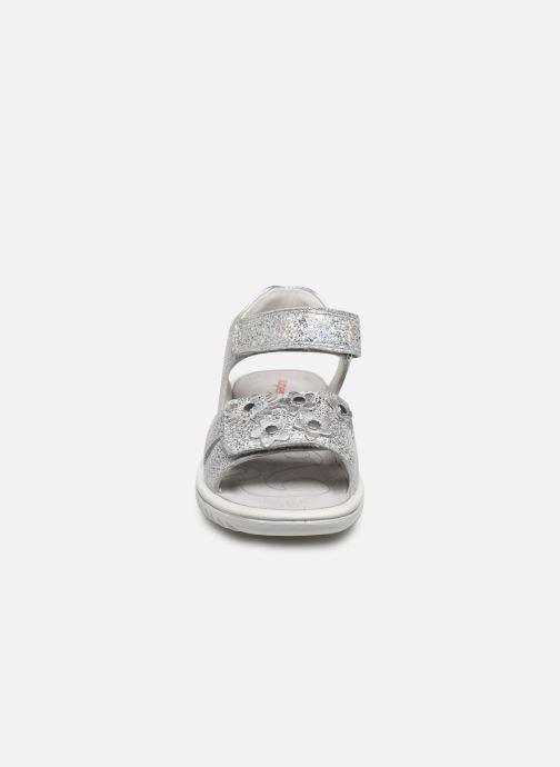 Sandalen Superfit Sparkle silber schuhe getragen