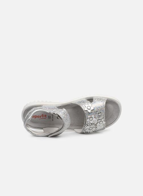 Sandalen Superfit Sparkle silber ansicht von links