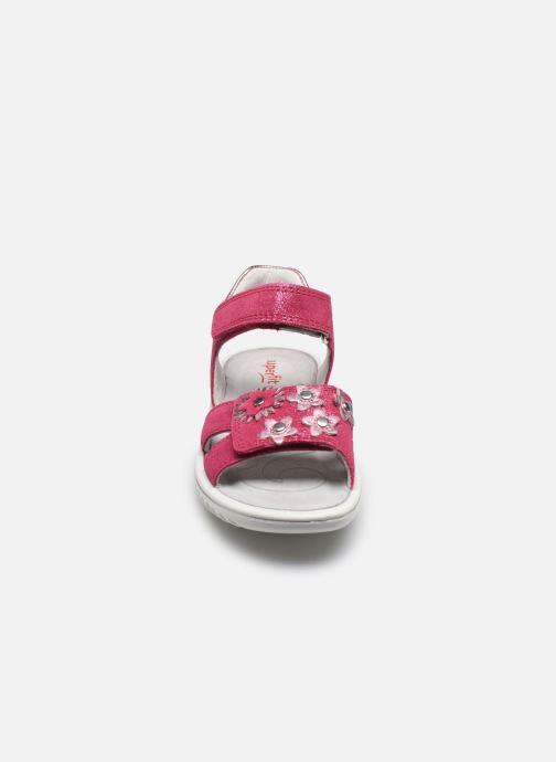 Sandales et nu-pieds Superfit Sparkle Rose vue portées chaussures