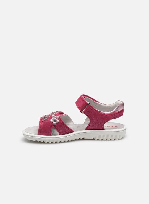 Sandales et nu-pieds Superfit Sparkle Rose vue face