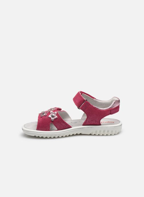 Sandalias Superfit Sparkle Rosa vista de frente