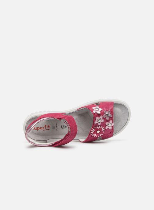 Sandales et nu-pieds Superfit Sparkle Rose vue gauche