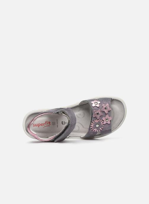 Sandales et nu-pieds Superfit Sparkle Violet vue gauche