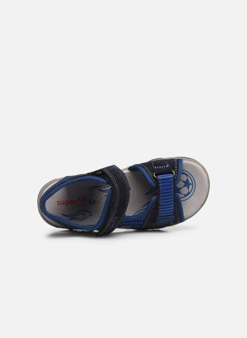 Sandalen Superfit Mike 3,0 blau ansicht von links