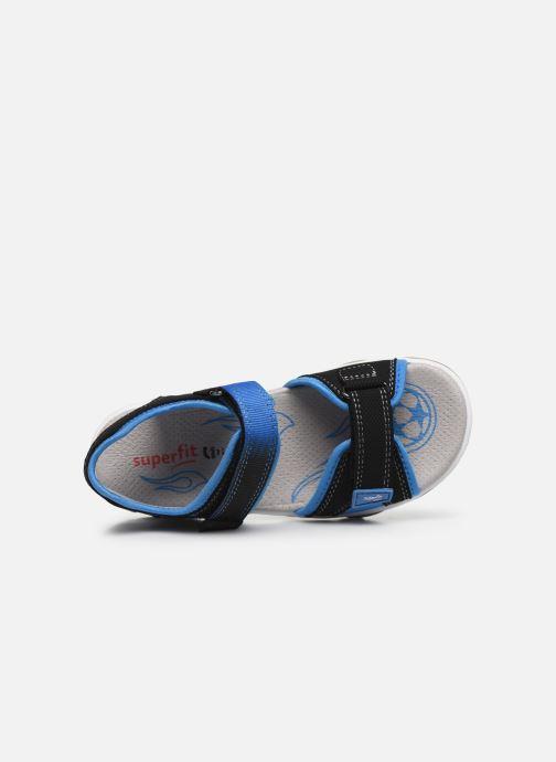 Sandalen Superfit Mike 3,02 schwarz ansicht von links