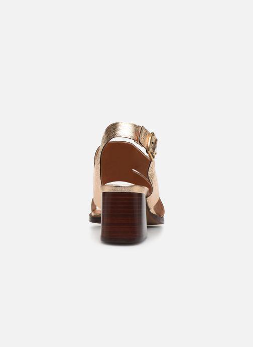 Sandales et nu-pieds Anonymous Copenhagen BRITTA 55 Or et bronze vue droite