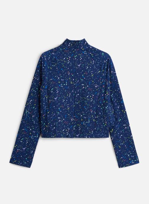 Vêtements Nike Nike Pro Wm Top Hz Aop Shine Bleu vue bas / vue portée sac