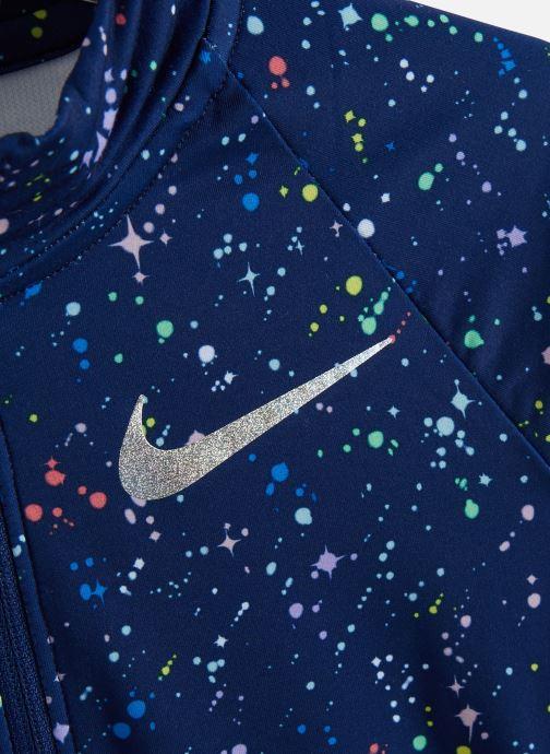 Vêtements Nike Nike Pro Wm Top Hz Aop Shine Bleu vue portées chaussures