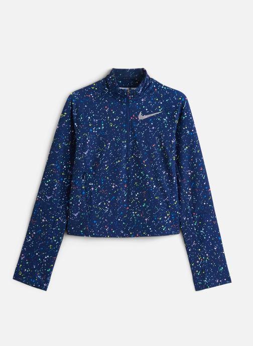 Vêtements Nike Nike Pro Wm Top Hz Aop Shine Bleu vue détail/paire