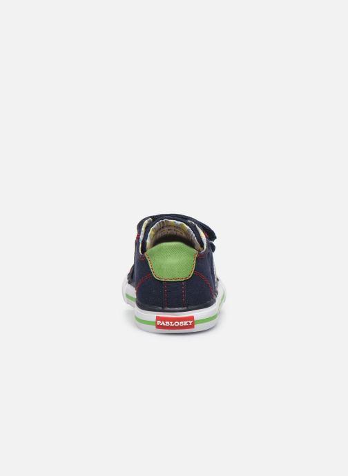 Sneaker Pablosky Baskets Lifestyle blau ansicht von rechts