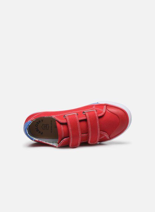 Sneaker Pablosky Baskets Lifestyle rot ansicht von links