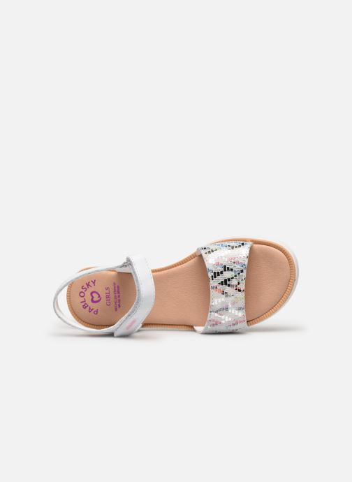 Sandals Pablosky Sandales Silver view from the left