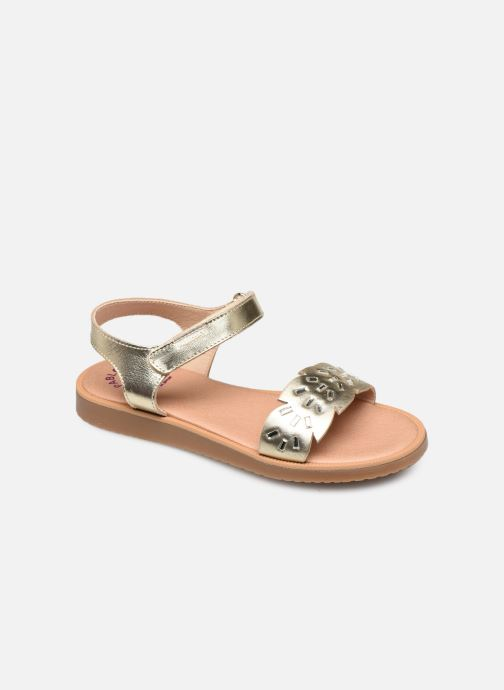 Sandals Pablosky Sandales Bronze and Gold detailed view/ Pair view