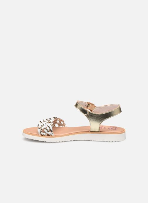 Sandals Pablosky Sandales Bronze and Gold front view