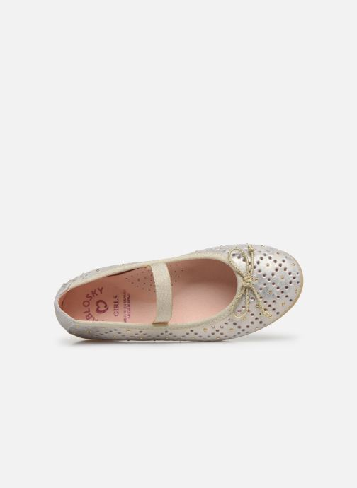 Ballet pumps Pablosky Ballerines Bronze and Gold view from the left