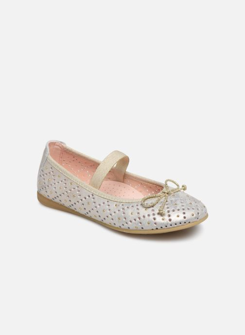 Ballet pumps Pablosky Ballerines Bronze and Gold detailed view/ Pair view