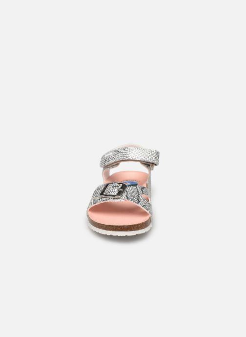 Sandalen Pablosky Sandales Footbed silber schuhe getragen