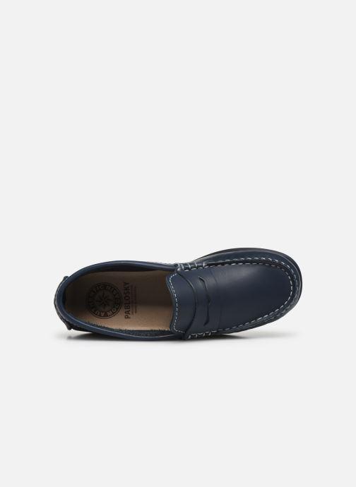 Mocassins Pablosky Chaussures Bateaux Bleu vue gauche