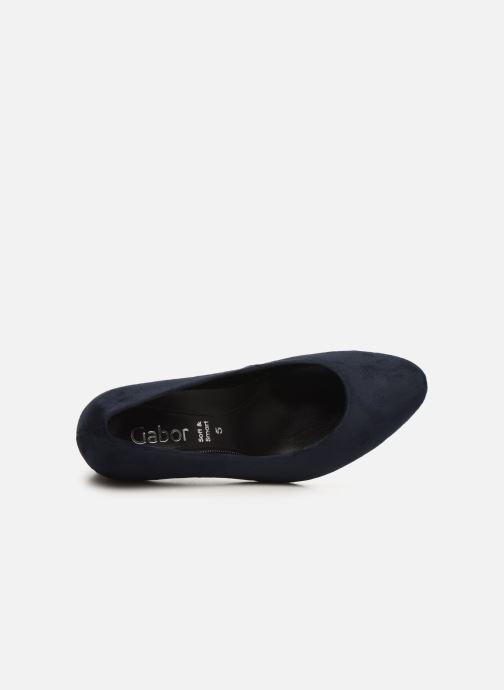 Zapatos de tacón Gabor FRIDA Azul vista lateral izquierda